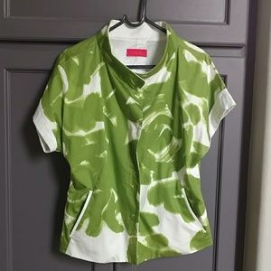 Green print summer jacket